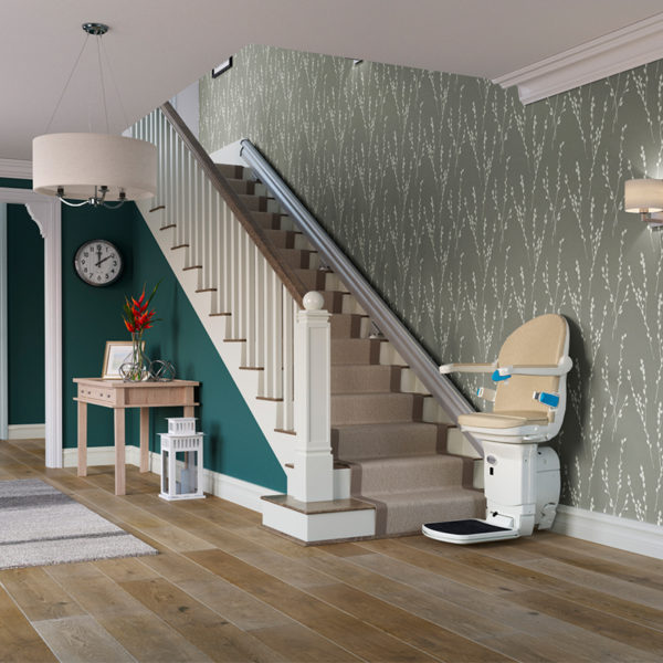 1000 stair lift installed handicare 600x600