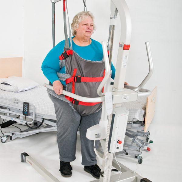 bari vest in use eva floor lift handicare