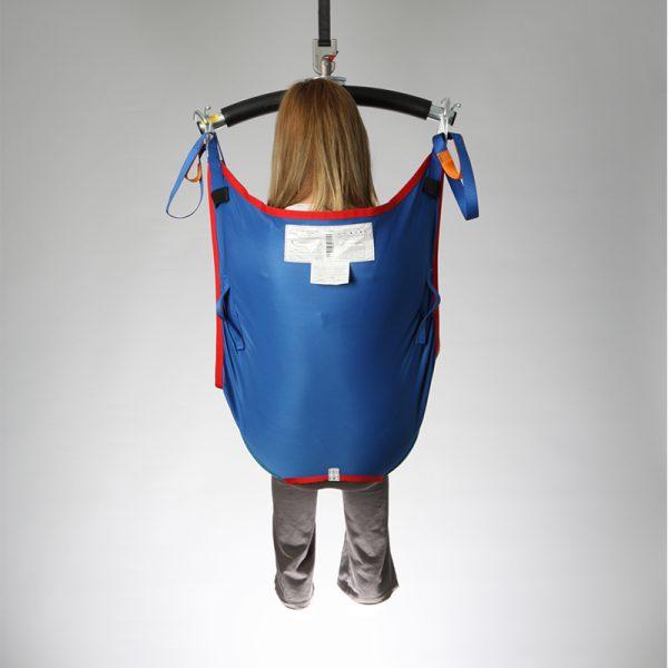 deluxe hammock sling poly slip back view handicare