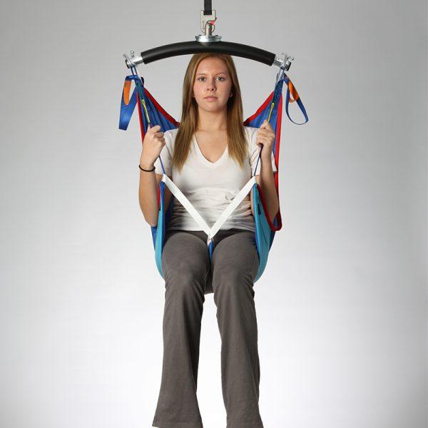 deluxe hammock sling poly slip front view handicare