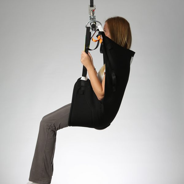 deluxe hammock sling spacer side view handicare