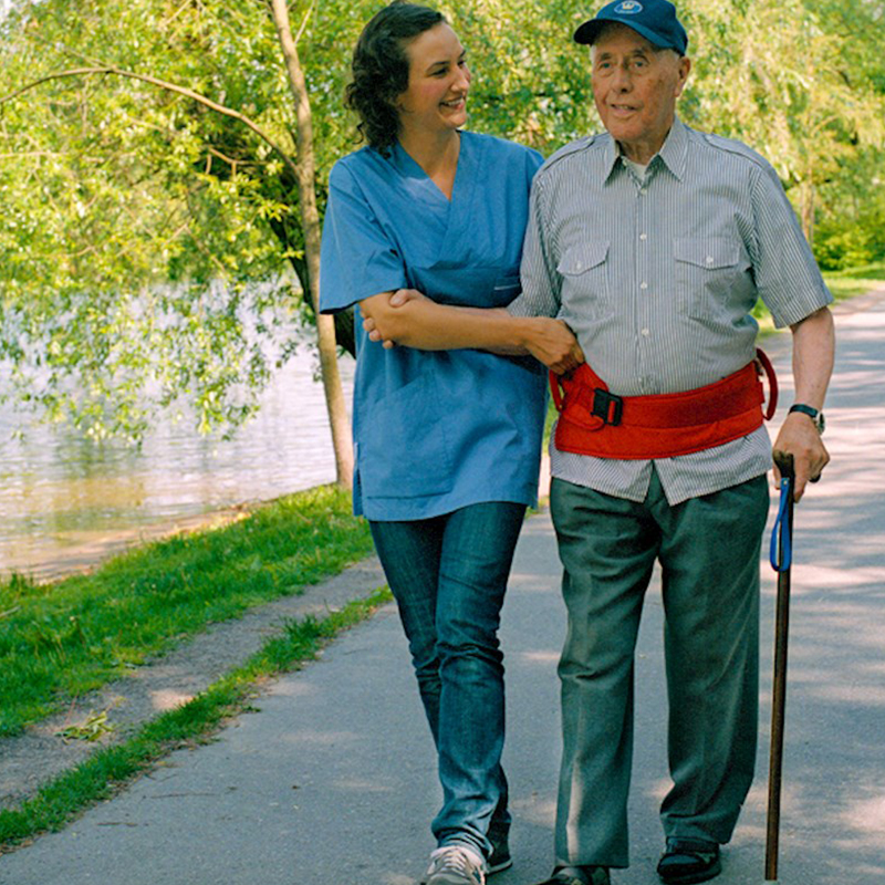 easy belt hug caregiver handicare