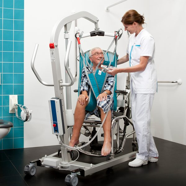 eva 450 floor lift in use handicare