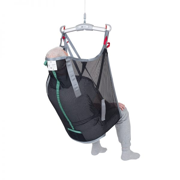 high back sling polyester net back view handicare 1