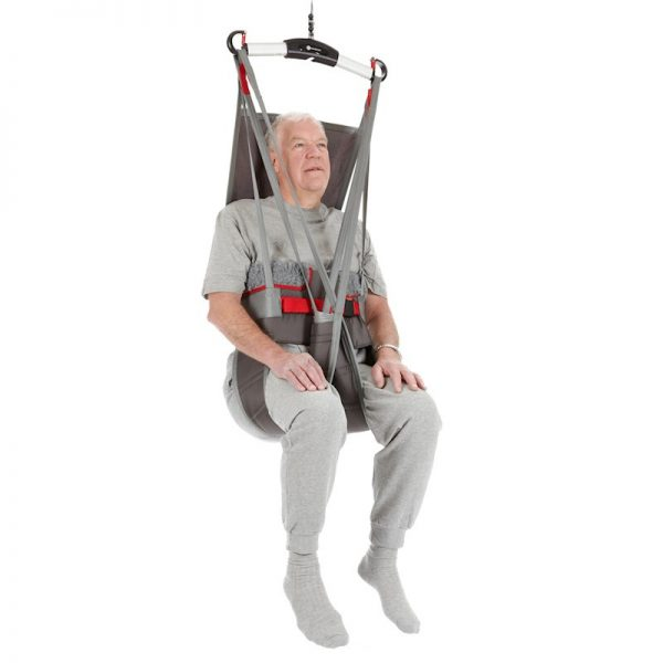 hygiene high back sling front view handicare video
