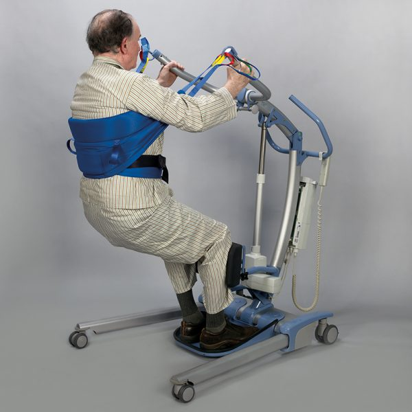 stand aid sling floor lift handicare