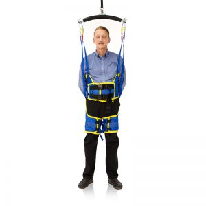 standing sling in use handicare
