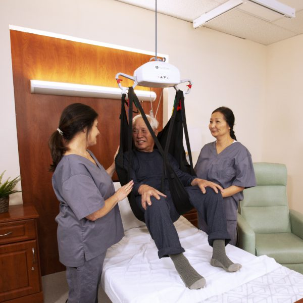 ap 450 ceiling lift caregivers and patient