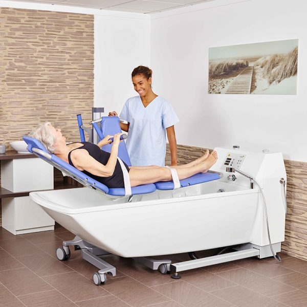 beka averno premium plus bath tub with patient and caregiver and senta pur l bath and shower lift extended 2