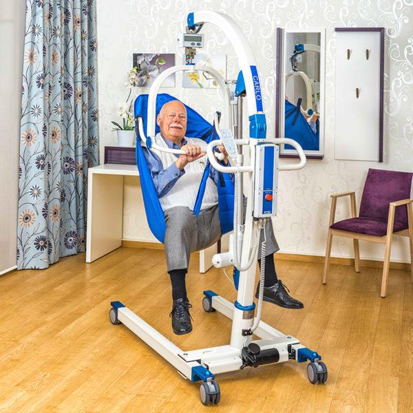 beka carlo comfort alu ep 230 floor lift with patient 2 600x600