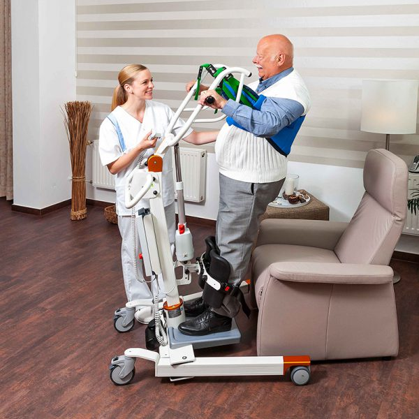 beka nora sit to stand standing patient and caregiver 1
