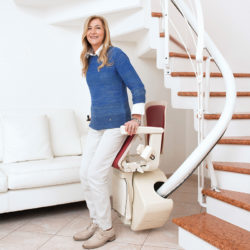 freecurve stair lift active seat option handicare