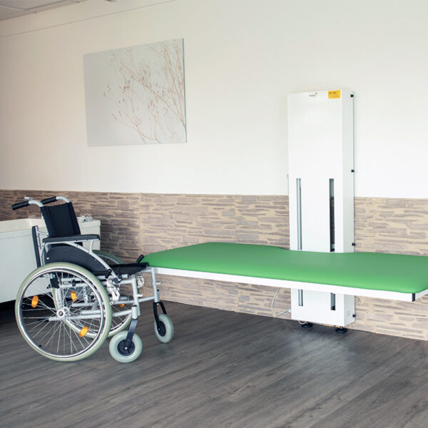beka ana nursing and care table lowered wheelchair access